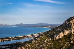 View from alcudia mallorca. Beautiful seight in mallorca. Photo for postcard Royalty Free Stock Photography