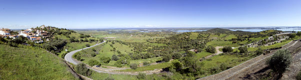 View from Alentejo Town of Monsaraz. Portugal (Pan01) Stock Photography