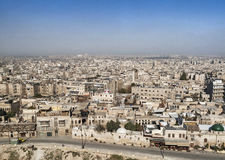 View of aleppo city syria from citadel Stock Photos