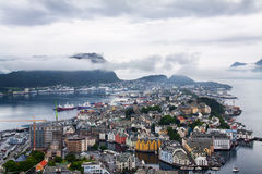 View of Alesund , Norway. Royalty Free Stock Photos