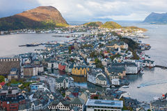 View of Alesund in Norway Royalty Free Stock Images