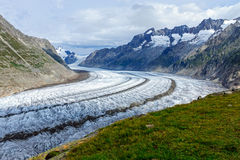 View of the Aletsch glacier Royalty Free Stock Image