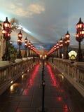 View From the Alexander II Bridge Inside Paris LV Hotel Stock Image