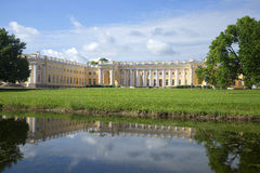 View of the Alexander Palace, sunny day in july. Tsarskoye Selo, St. Petersburg Stock Images
