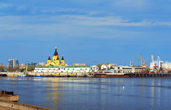 View of Alexandr Nevsky Cathedral in Nizhny Novgorod Royalty Free Stock Photo