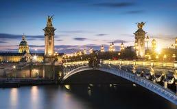 Alexandre 3 bridge in Paris, France Stock Image