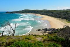 Alexandria Bay in Noosa National Park in Queensland, Australia. View of Alexandria Bay in Noosa National Park in Queensland, Australia royalty free stock image