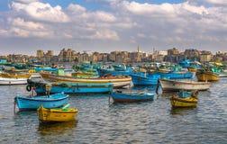 View of Alexandria harbor, Egypt Stock Images