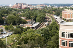View of Alexandria Virginia from above Stock Photo