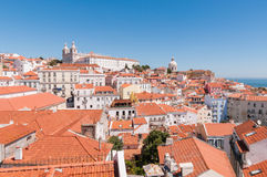 View of the Alfama district in Lisbon Royalty Free Stock Photography