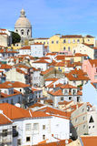View of Alfama district in Lisbon. Vertical. Royalty Free Stock Photo