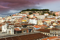 View of Alfama in Lisbon Royalty Free Stock Photos