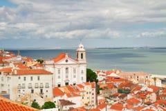 View of Alfama, Lisbon, Portugal Royalty Free Stock Photos
