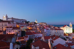 View of Alfama, Lisbon, Portugal Royalty Free Stock Photography