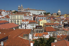 View of Alfama - Lisbon. View of the typical Alfama in Lisbon Royalty Free Stock Image