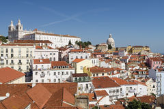 View of Alfama Royalty Free Stock Photos