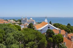View of Alfama Stock Photography