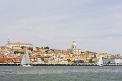 View of Alfama from the river Stock Image