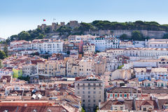 View of Alfama and St. George`s Castle Royalty Free Stock Photo