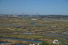 View From Algarve to Andalusia Stock Images