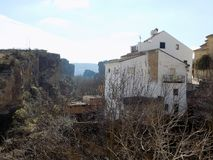 View of Alhama de Granada. View panoramic Royalty Free Stock Photography