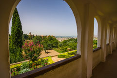 View on the Alhambra. From the summer palace Generalife Stock Photography