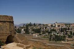 View from Alhambra. Granada, Spain Stock Photography
