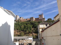 View of Alhambra from Albayzin (Albaicin) in Granada Stock Images