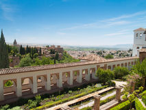 View of the Alhambra castle and Generalife Granada Stock Photo