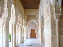 View of the Alhambra in Granada. Alhambra is a palace and fortress complex located in Granada, Andalusia, Spain Royalty Free Stock Photography