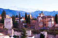 View of the Alhambra.  Granada Stock Images