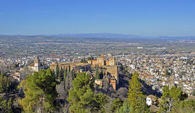 View of Alhambra Stock Photography