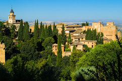 View of the Alhambra. In Granada, Spain royalty free stock photography