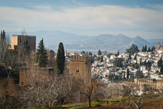 View of Alhambra, Granada, Spain Royalty Free Stock Photo