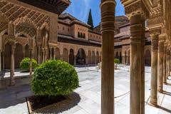 View of Alhambra interiors in Granada, Spain Stock Images