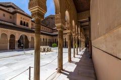 View of Alhambra interiors in Granada, Spain Stock Photos