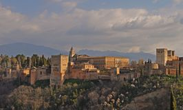 View of Alhambra Palace in Granada, Spain royalty free stock photos
