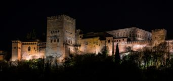 View of Alhambra Palace in Granada, Spain in Europe stock images