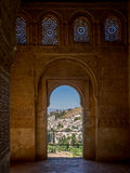 View from within the Alhambra Palace, Granada Stock Photography