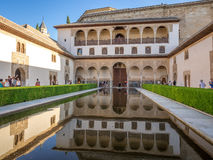 View from within the Alhambra Palace, Granada Royalty Free Stock Images
