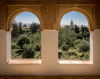 View from within the Alhambra Palace, Granada Royalty Free Stock Photography