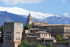View of the Alhambra palace in the late afternoon Royalty Free Stock Photo