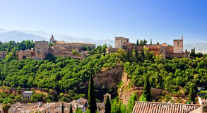 View on Alhambra at sunny day Royalty Free Stock Photos