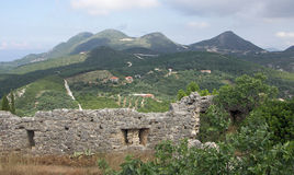 View from Ali Pasha Castle Parga. Royalty Free Stock Photo