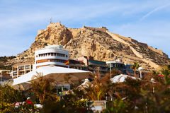 View of Alicante with Castle Royalty Free Stock Photos