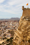 View of Alicante  from Castle. Royalty Free Stock Image