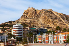 View of Alicante with Castle Stock Image