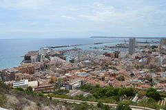 Alicante Harbour And Mediterranean Sea Royalty Free Stock Image