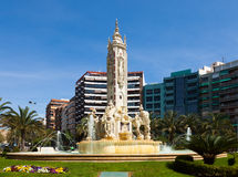 View of Alicante. Luceros Square Royalty Free Stock Image