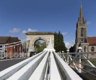View of All Saints Church Marlow from the bridge Royalty Free Stock Photo